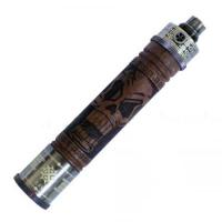 Vision X-Fire Hand Carved Skulls Wood 1100mAh battery spinner e-cig